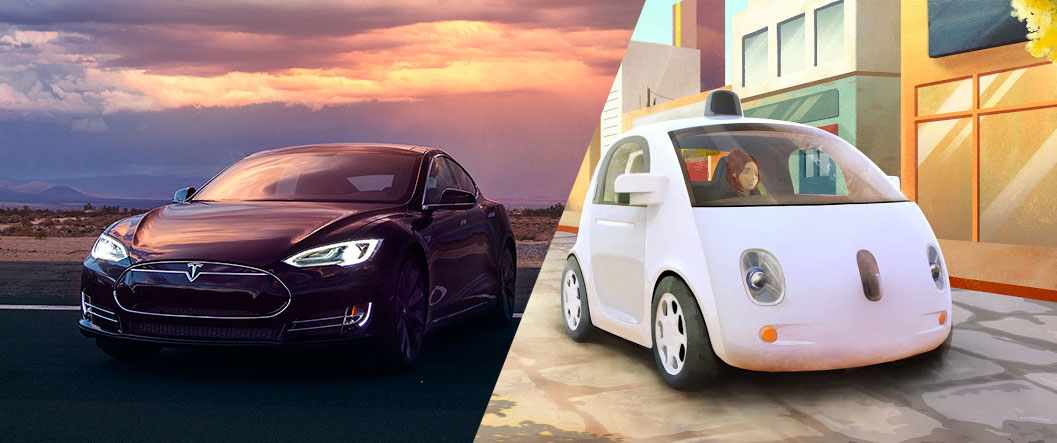 Tesla and Google's Self Driving Technology